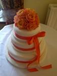 rose cake top dsign